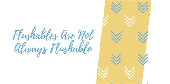 Flushables are not always flushable