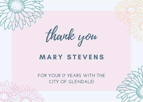 Thank You Mary Stevens